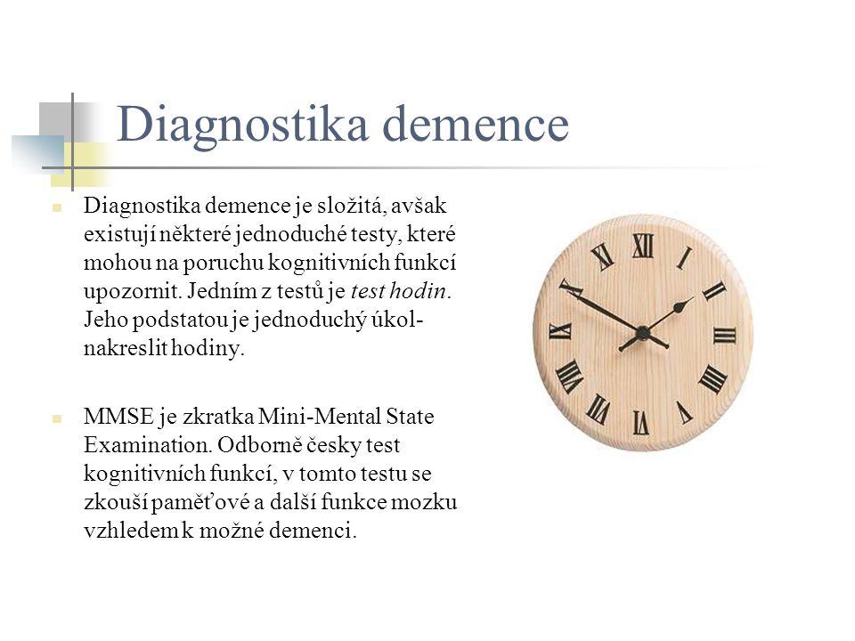 Diagnostika demence