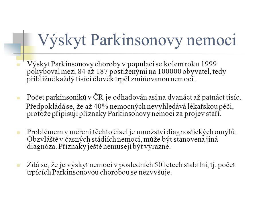Výskyt Parkinsonovy nemoci