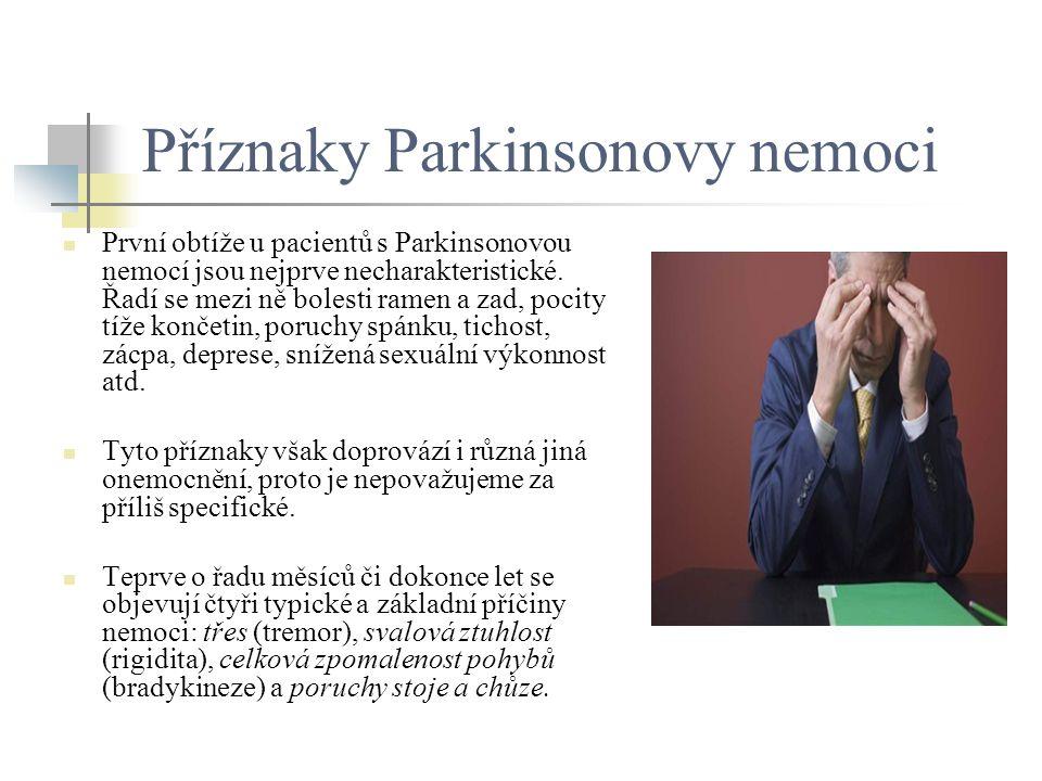 Příznaky Parkinsonovy nemoci