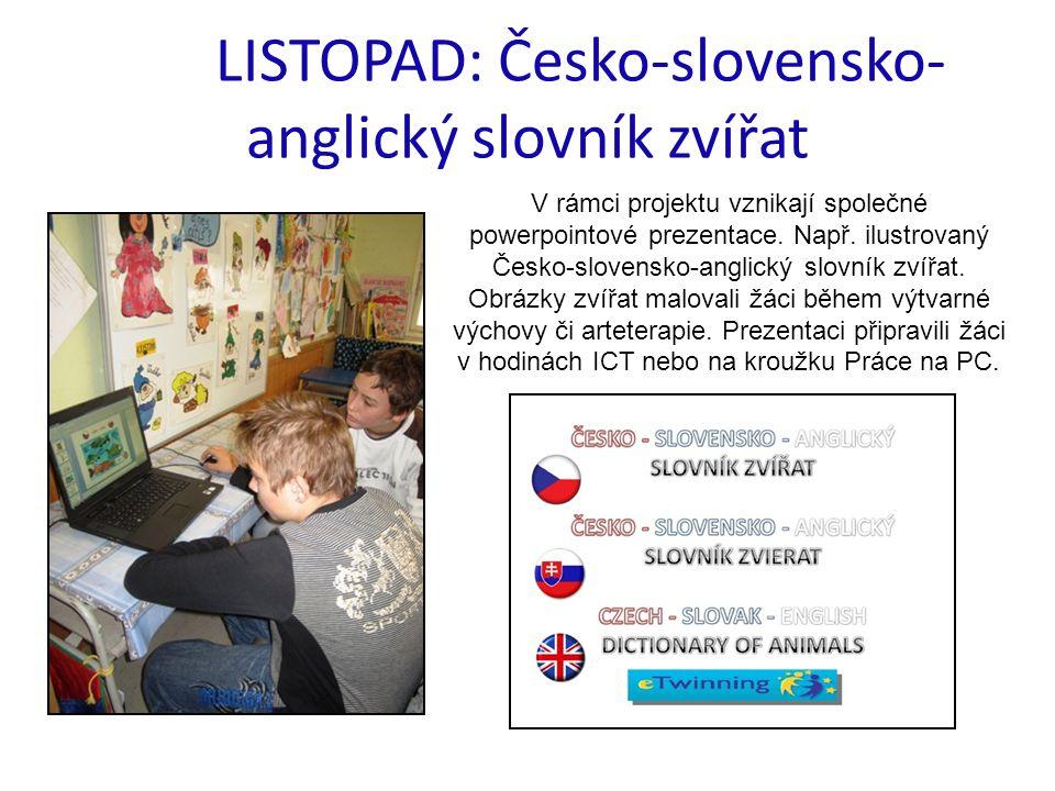 LISTOPAD: Česko-slovensko-anglický slovník zvířat