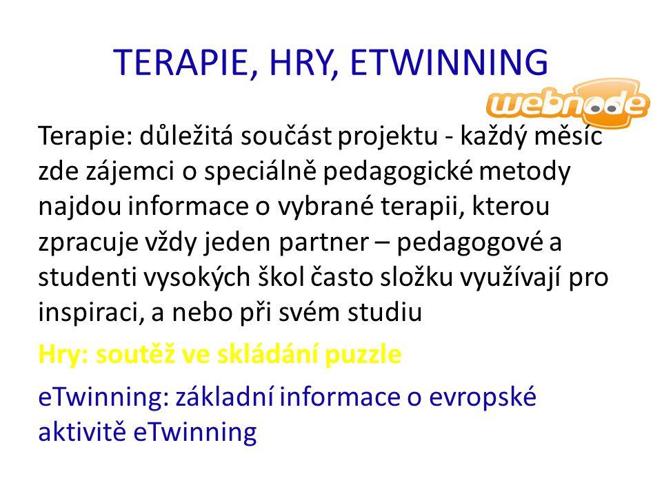 TERAPIE, HRY, ETWINNING