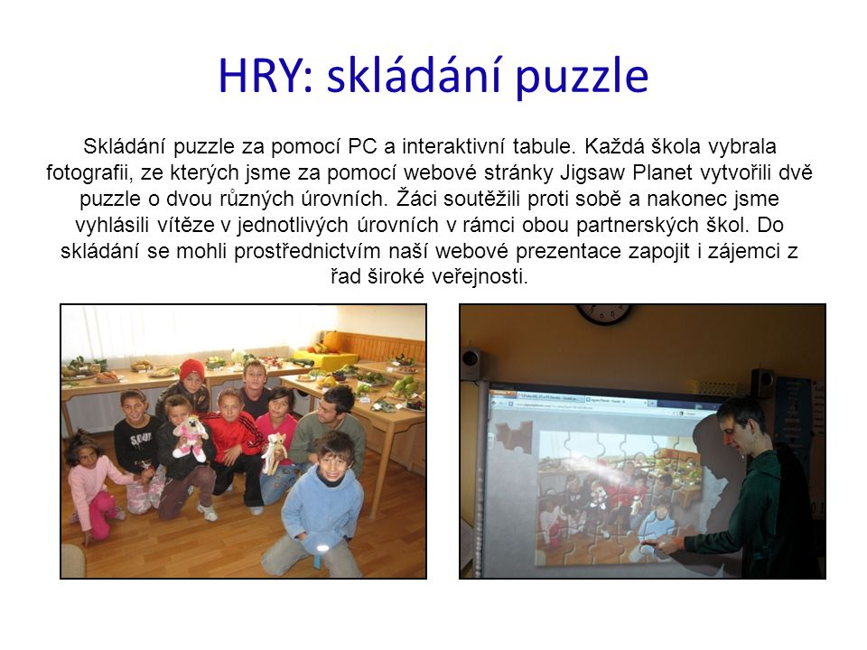 HRY: skládání puzzle