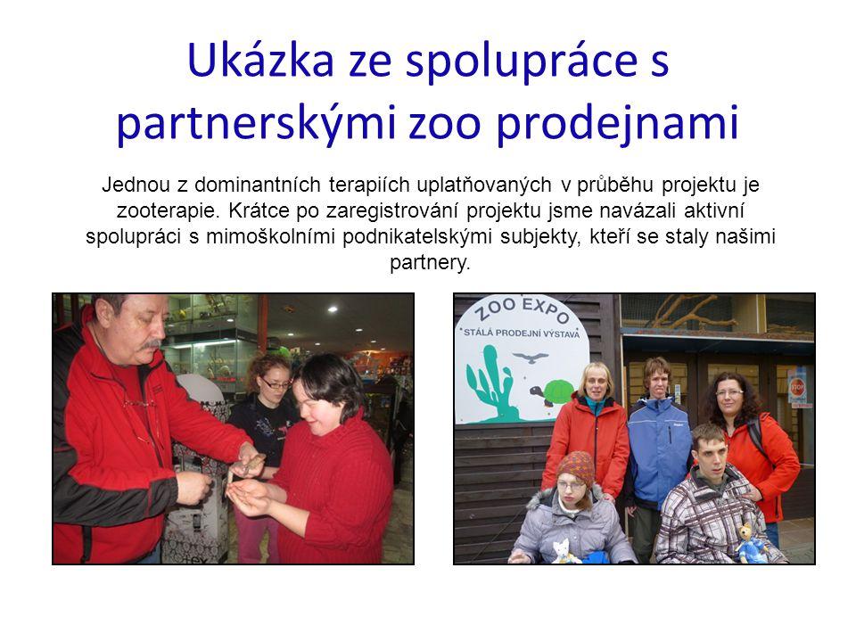 Ukázka ze spolupráce s partnerskými zoo prodejnami