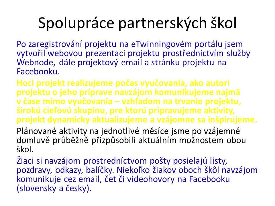 Spolupráce partnerských škol