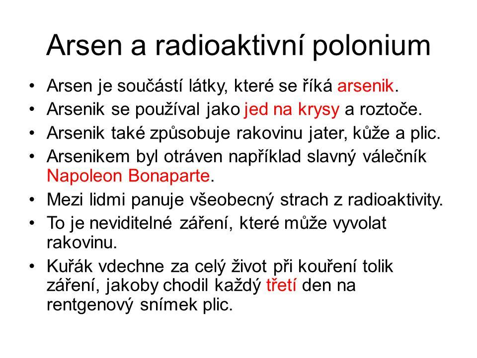 Arsen a radioaktivní polonium