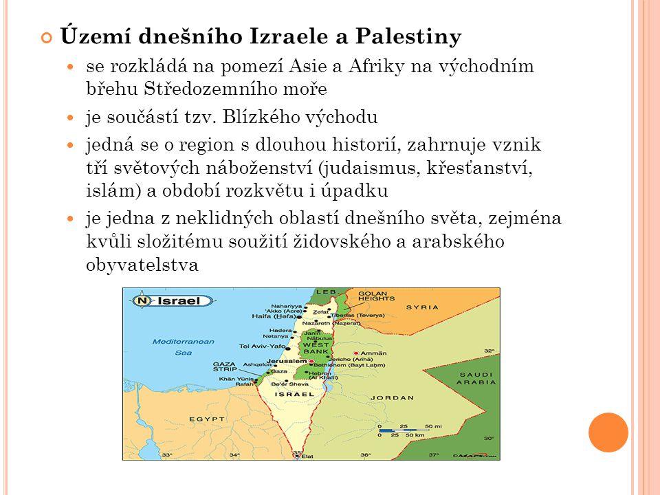 Území dnešního Izraele a Palestiny