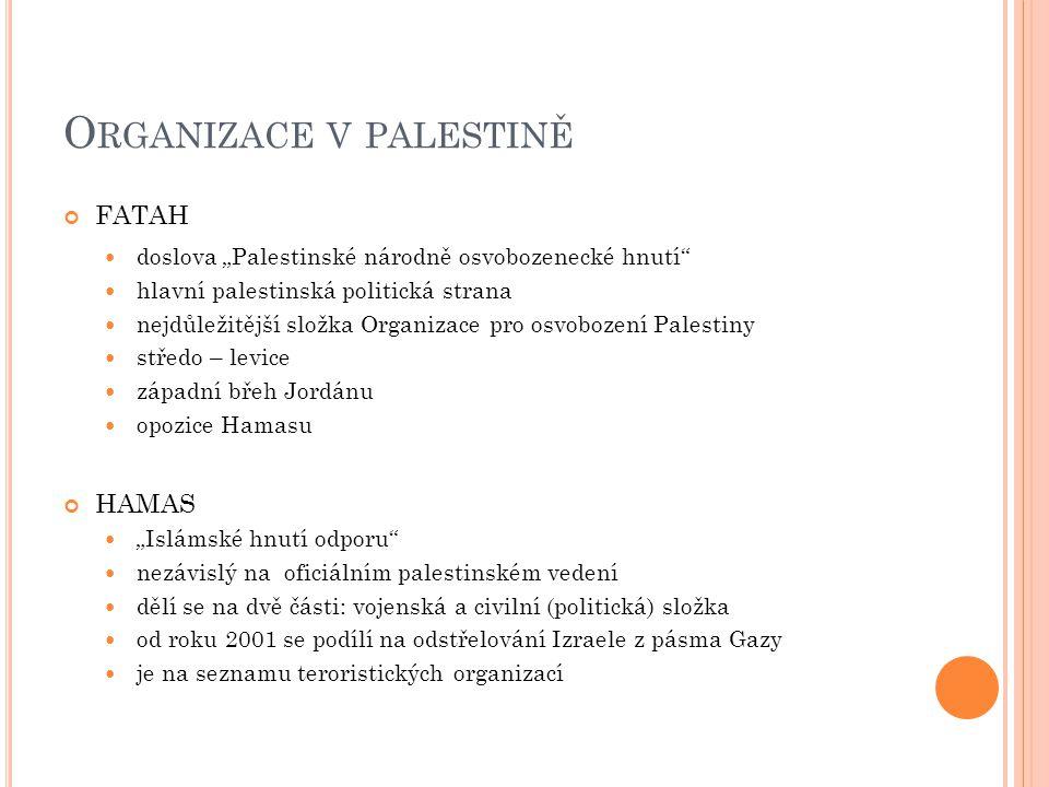 Organizace v palestině