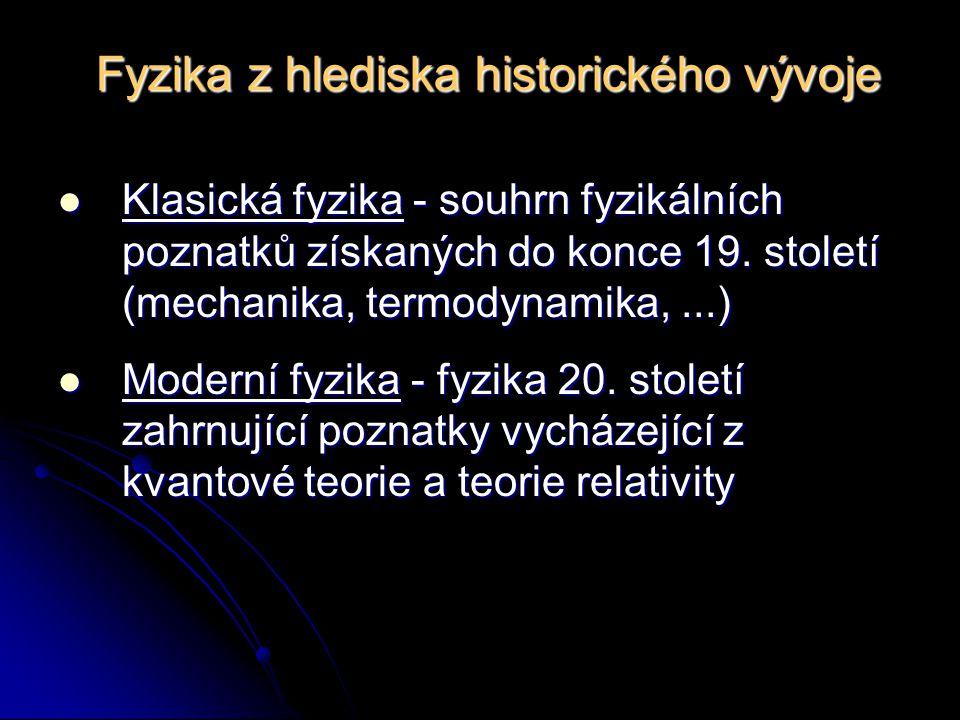 Fyzika z hlediska historického vývoje