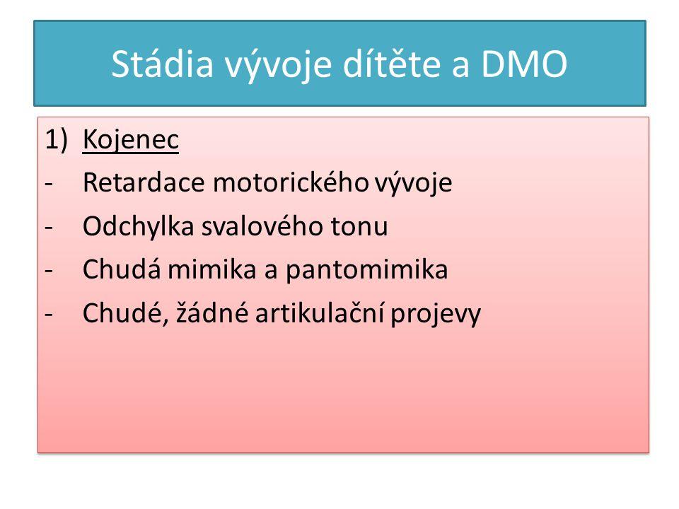 Stádia vývoje dítěte a DMO
