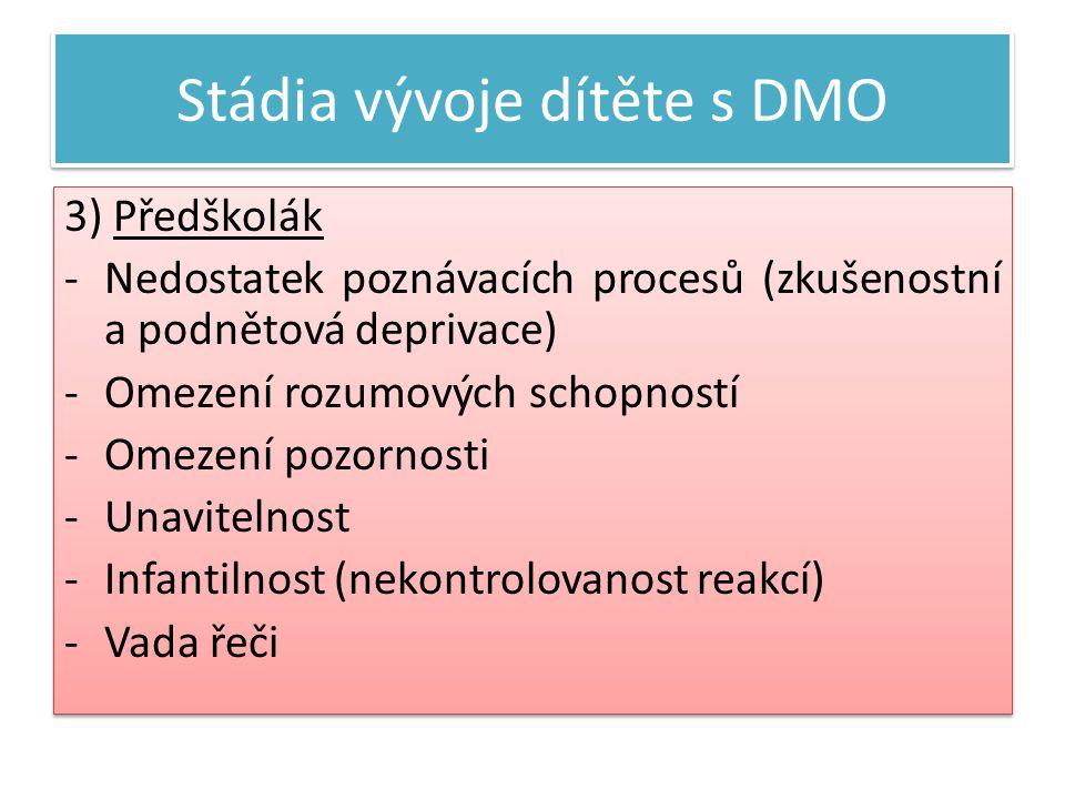 Stádia vývoje dítěte s DMO