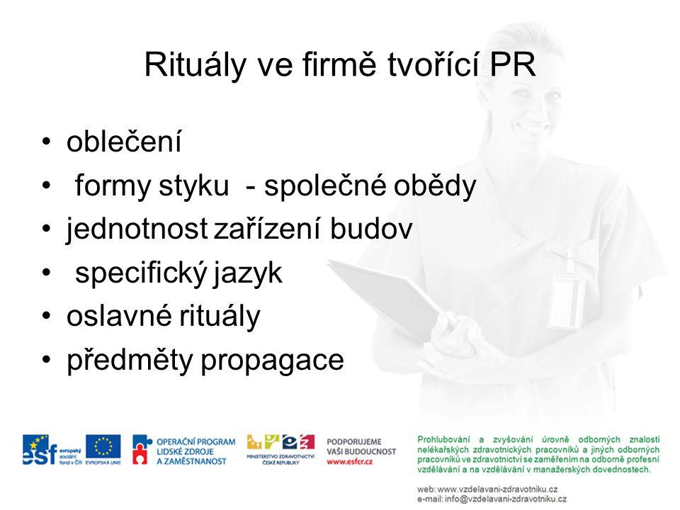 Rituály ve firmě tvořící PR