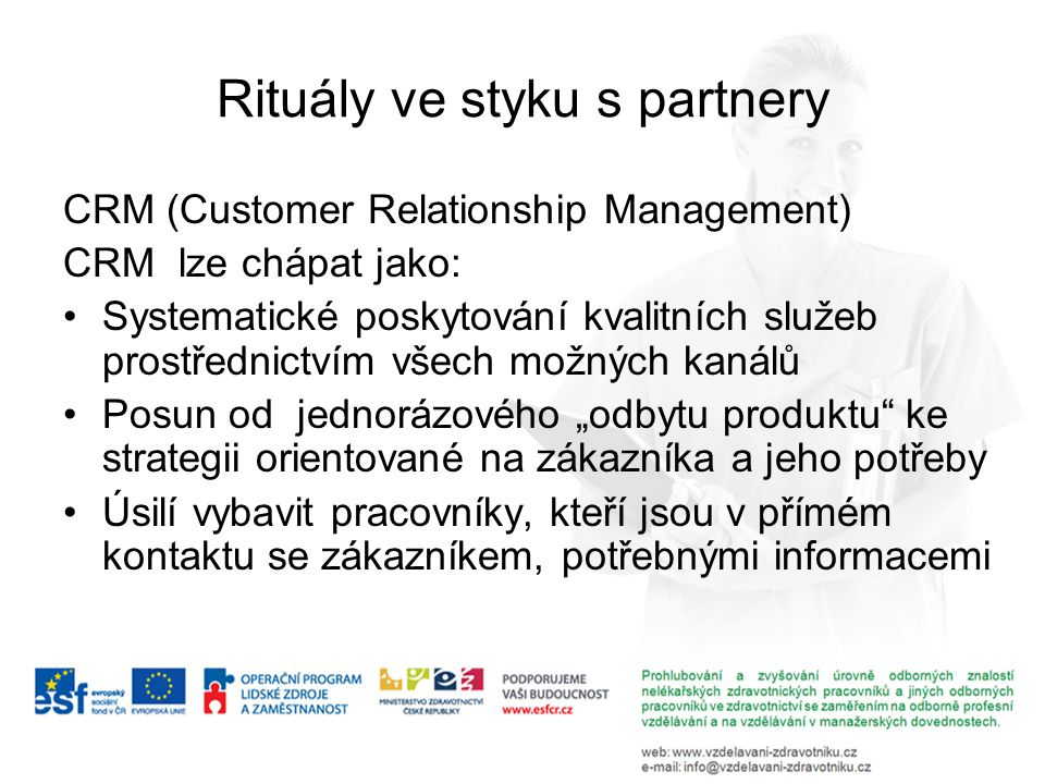 Rituály ve styku s partnery