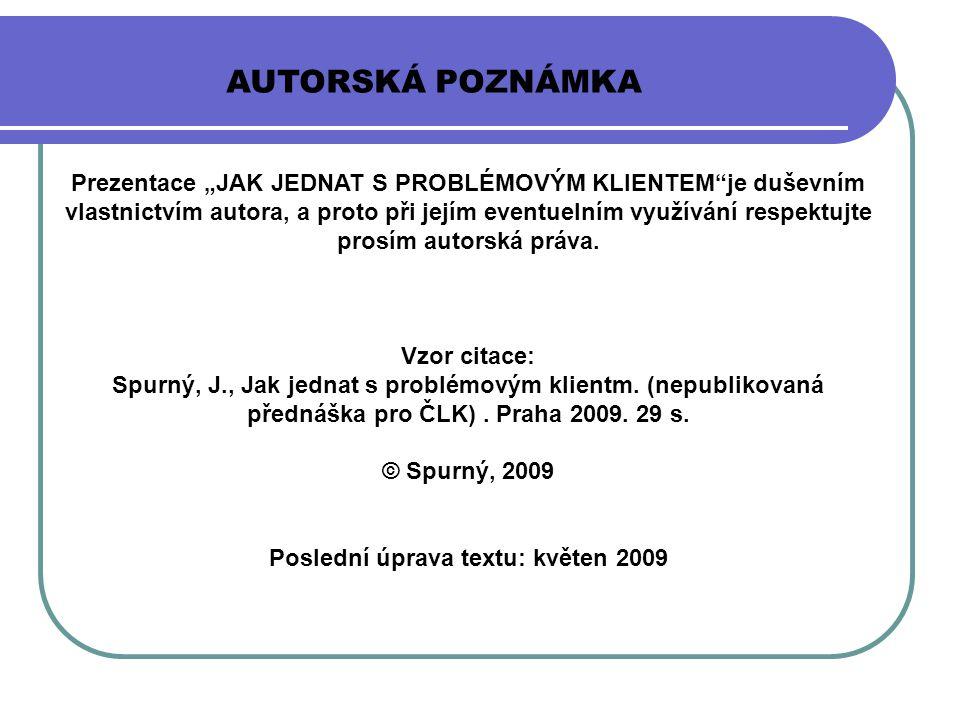 Poslední úprava textu: květen 2009