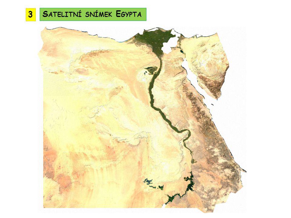 3 Satelitní snímek Egypta