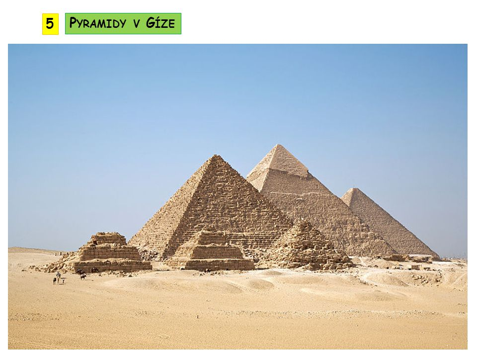 5 Pyramidy v Gíze