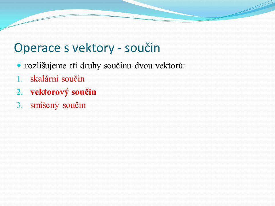 Operace s vektory - součin