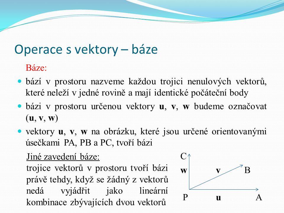 Operace s vektory – báze