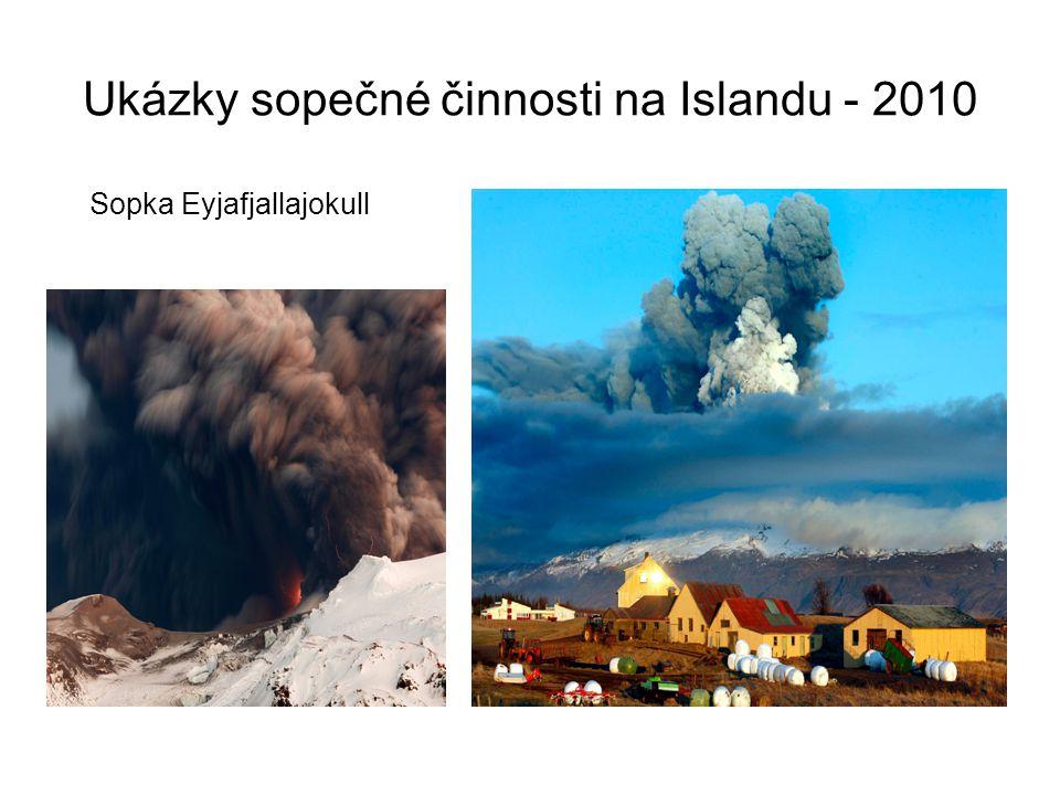 Ukázky sopečné činnosti na Islandu - 2010