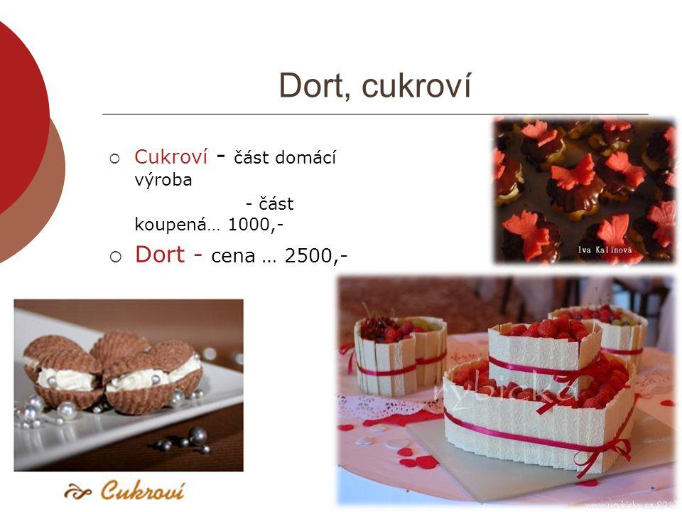 Dort, cukroví Dort - cena … 2500,- Cukroví - část domácí výroba