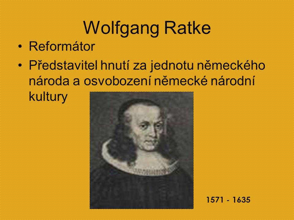 Wolfgang Ratke Reformátor