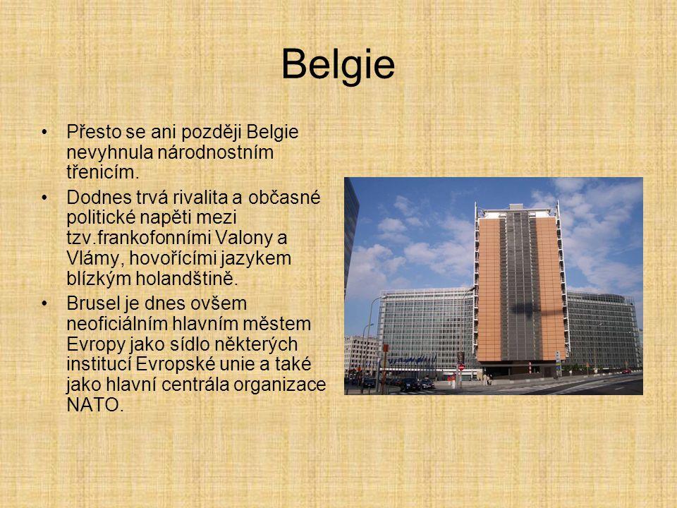 Belgie Přesto se ani později Belgie nevyhnula národnostním třenicím.