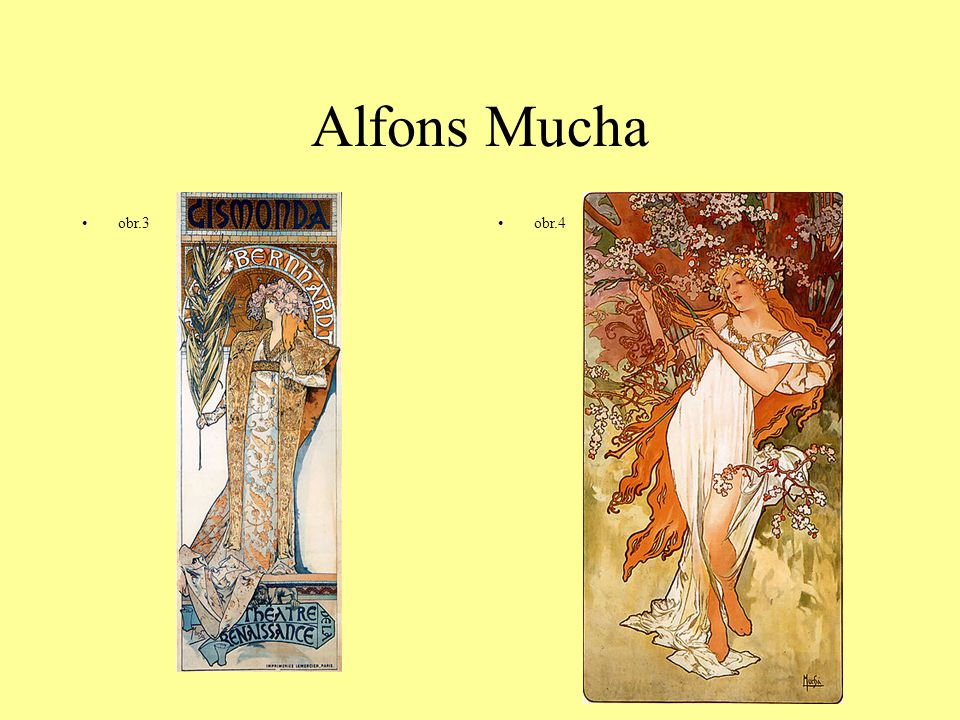 Alfons Mucha obr.3 obr.4