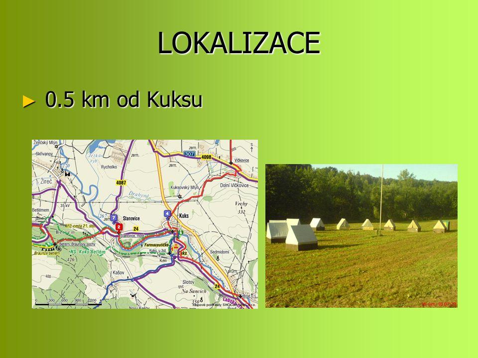 LOKALIZACE 0.5 km od Kuksu