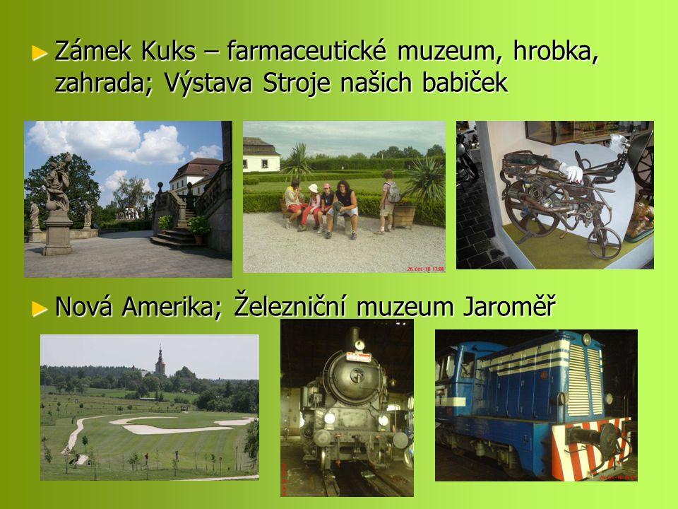 Zámek Kuks – farmaceutické muzeum, hrobka, zahrada; Výstava Stroje našich babiček