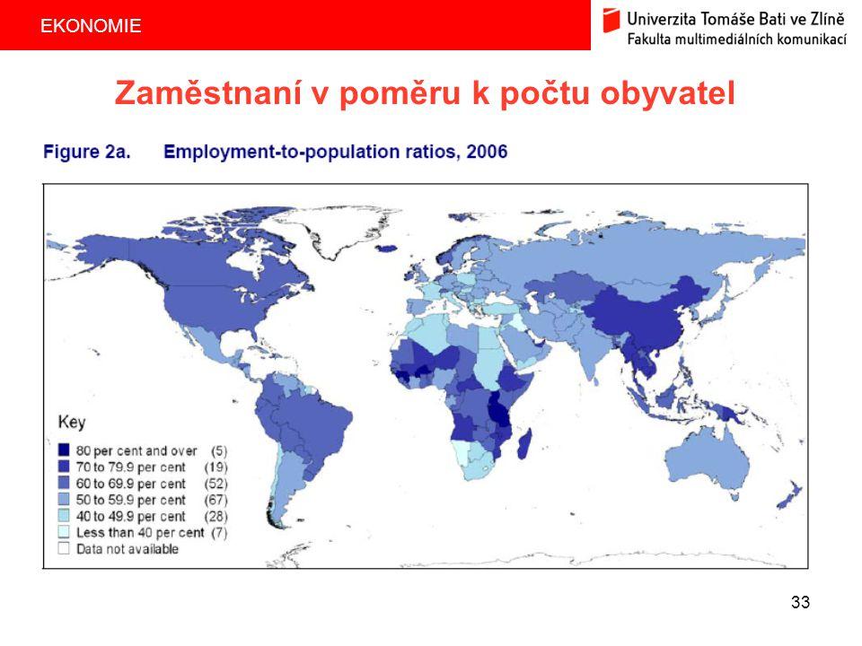 Zaměstnaní v poměru k počtu obyvatel