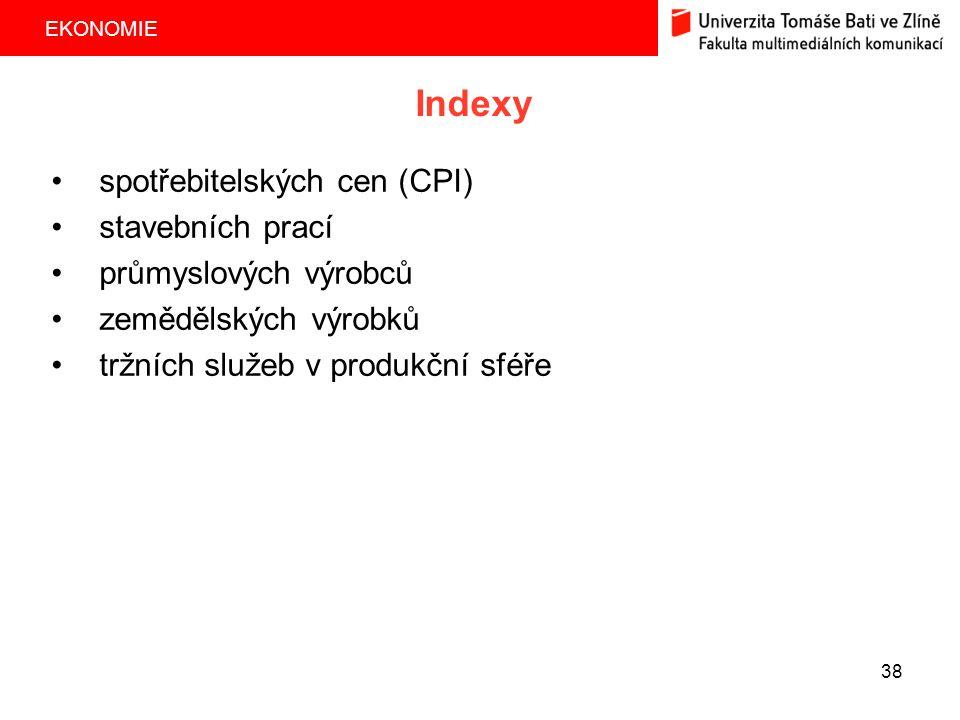 Indexy spotřebitelských cen (CPI) stavebních prací