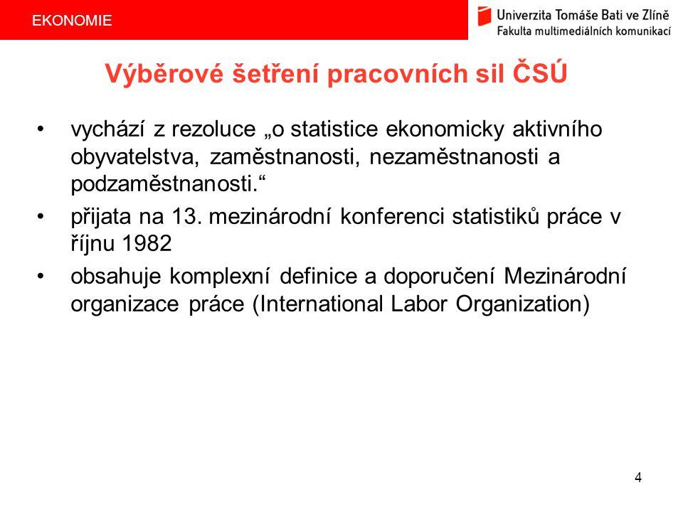 Výběrové šetření pracovních sil ČSÚ