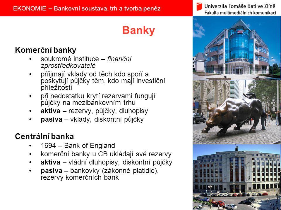 Banky Komerční banky Centrální banka