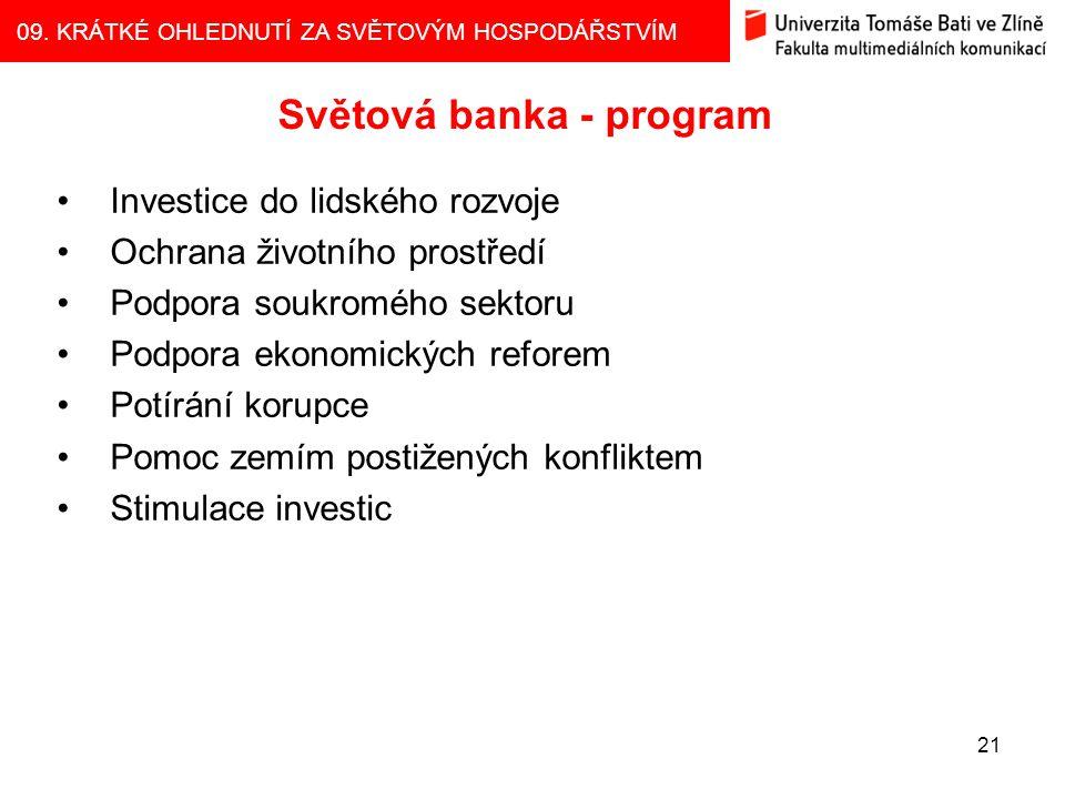 Světová banka - program