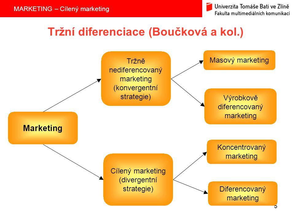 Tržní diferenciace (Boučková a kol.)
