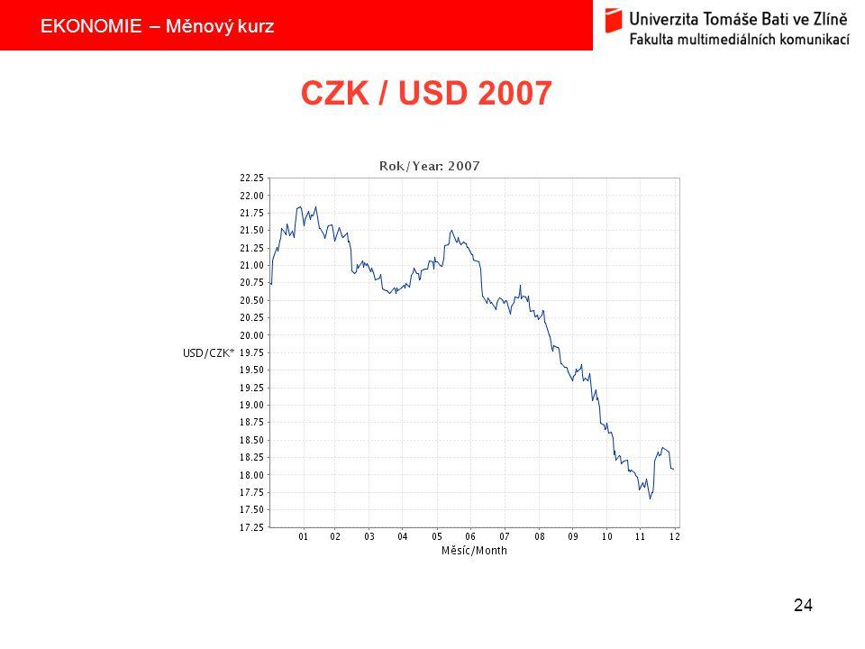 CZK / USD 2007