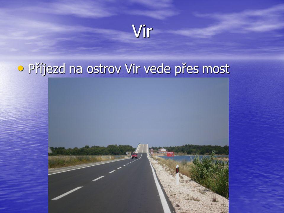 Vir Příjezd na ostrov Vir vede přes most