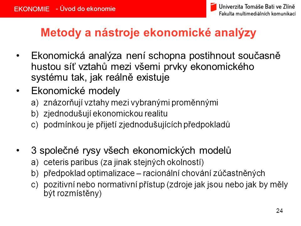 Metody a nástroje ekonomické analýzy