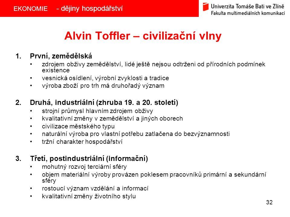 Alvin Toffler – civilizační vlny