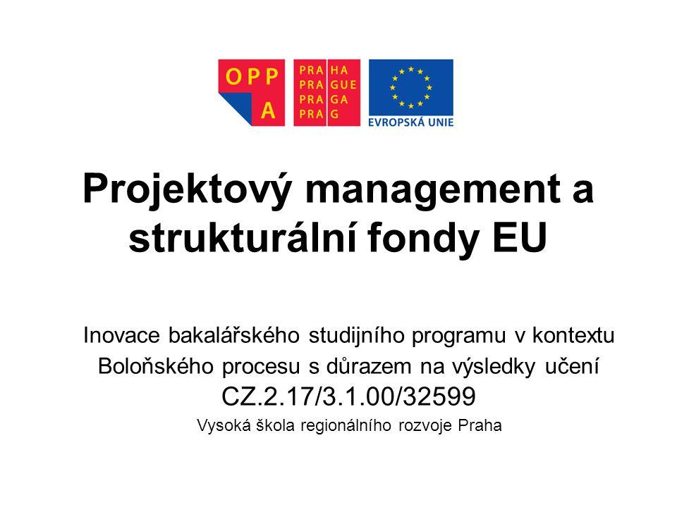 Projektový management a strukturální fondy EU