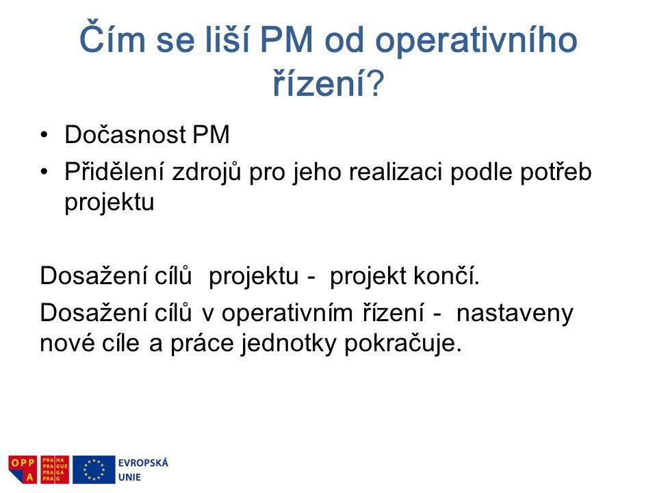 Čím se liší PM od operativního řízení