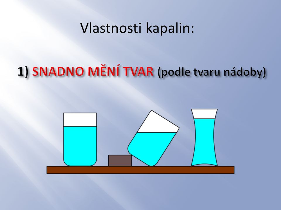 1) SNADNO MĚNÍ TVAR (podle tvaru nádoby)