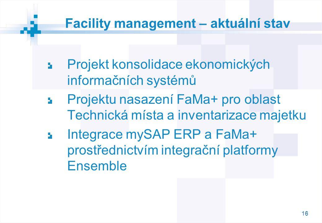 Facility management – aktuální stav