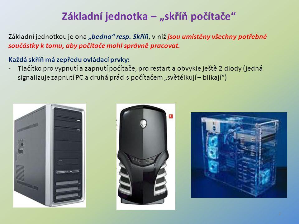 """Základní jednotka – """"skříň počítače"""