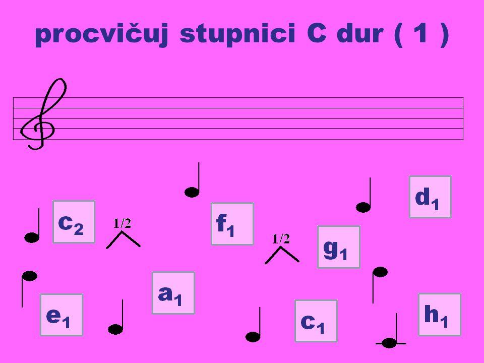 procvičuj stupnici C dur ( 1 )