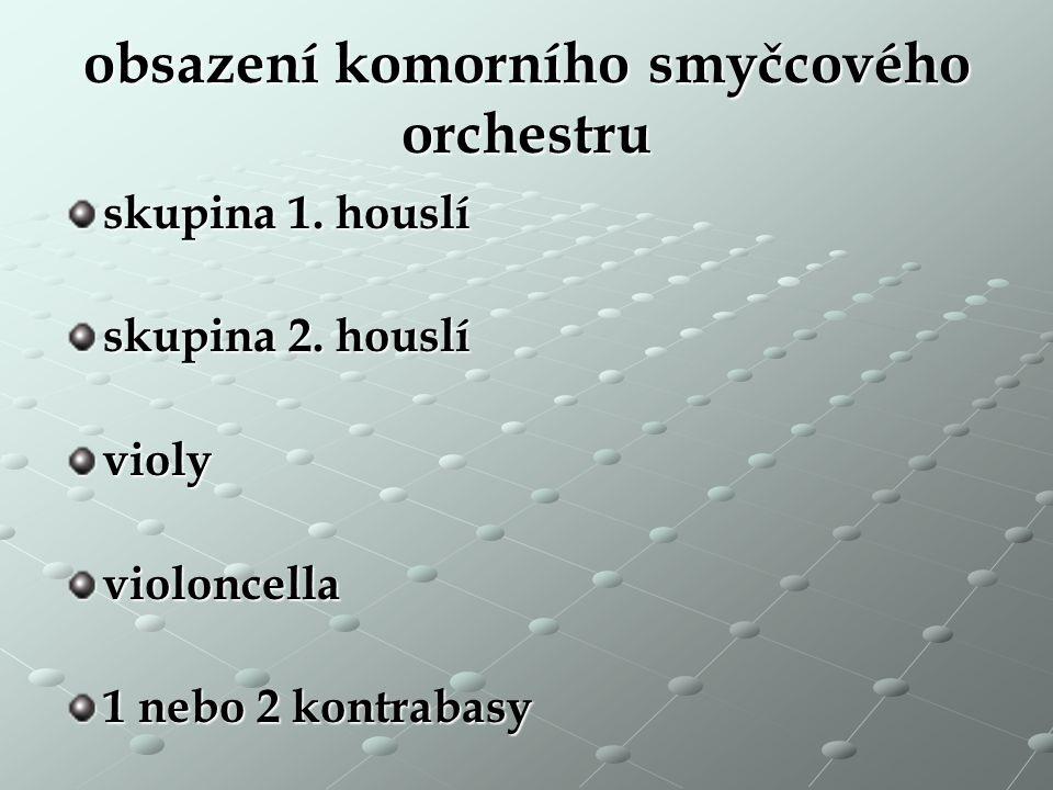 obsazení komorního smyčcového orchestru