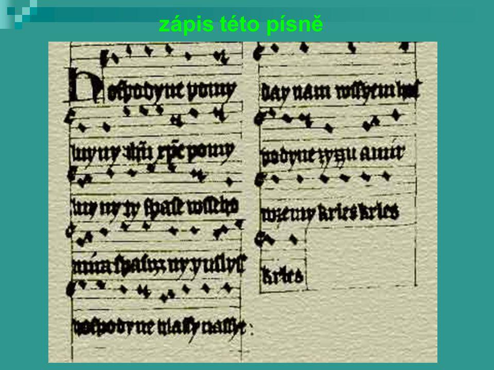 zápis této písně