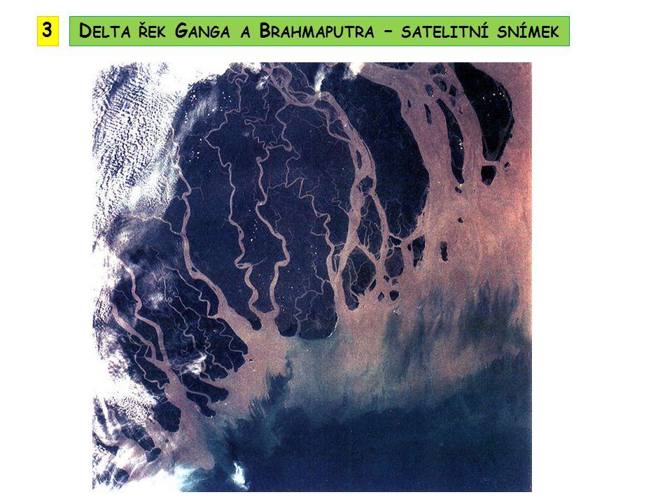 Delta řek Ganga a Brahmaputra – satelitní snímek