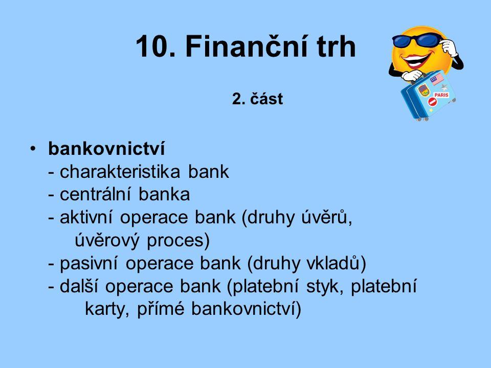 10. Finanční trh 2. část.