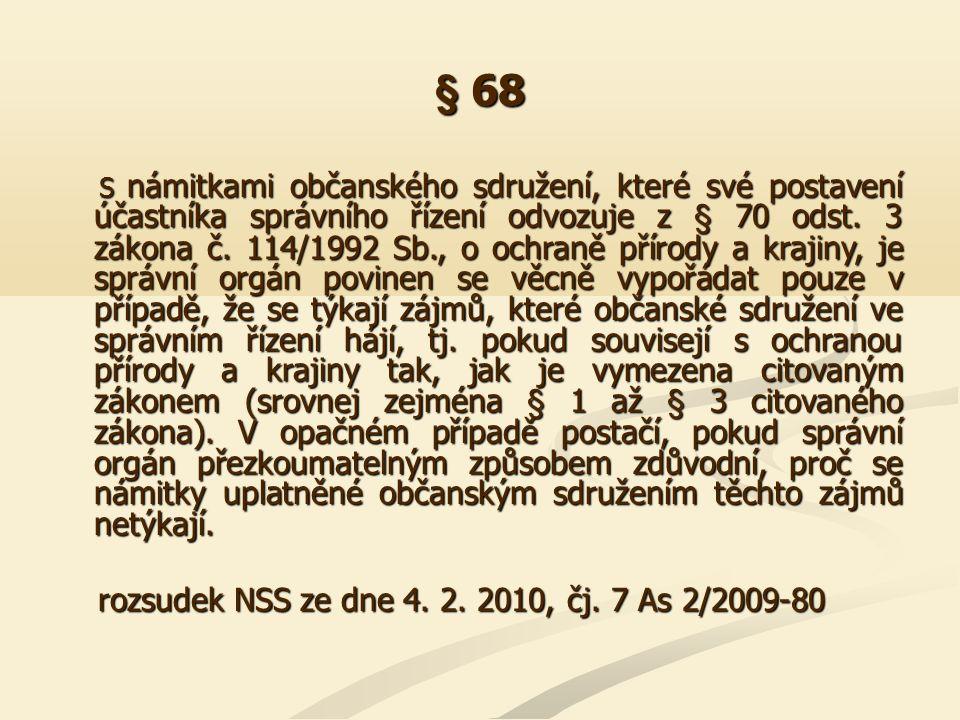 § 68 rozsudek NSS ze dne 4. 2. 2010, čj. 7 As 2/2009-80