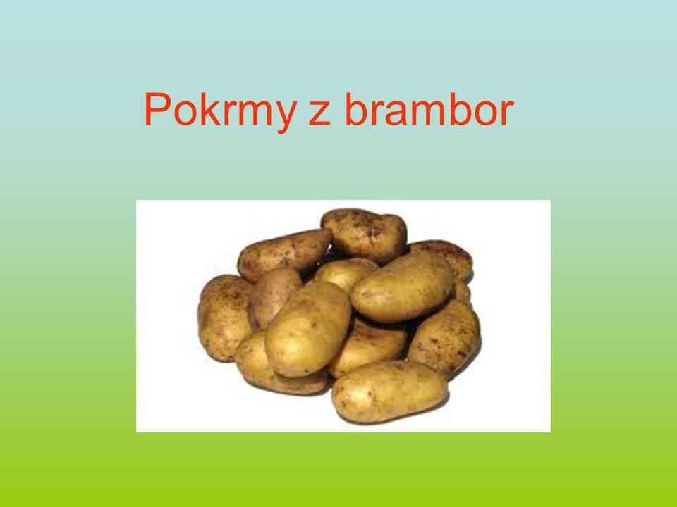 Pokrmy z brambor